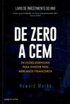 capa do De zero a cem : senso incomum para o investidor sensato