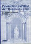 capa do Parlamentares e ministros da 1a República, 1910-1926