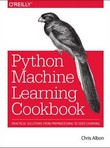 capa do Machine learning with Python cookbook : practical solutions from preprocessing to deep learning